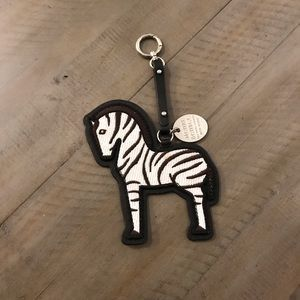 NWOT Henri Bendel Zebra Bag Charm Key Fob